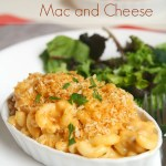 Lighter Buffalo Chicken Mac and Cheese