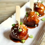 Lightened-Up Asian Hoisin Meatballs