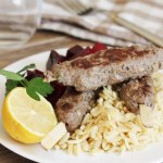 Spiced Greek Lamb Kefta with Lemon Orzo