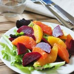 Orange and Beet Salad with Dijon Citrus Dressing {Meatless Monday}