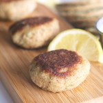 {Gluten-Free} Crab Cake Bites with Lemon Garlic Aioli