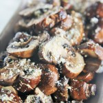 Parmesan Garlic Butter Roasted Mushrooms