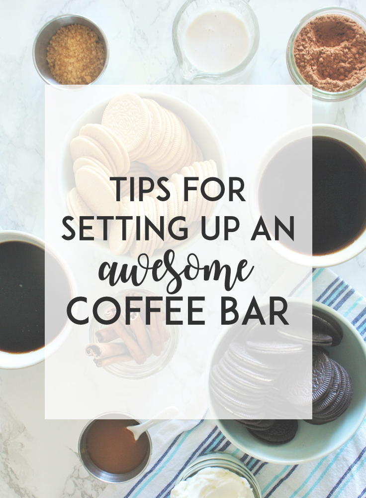 Invite a few friends over and host a casual and cozy coffee bar party at home. Here are my tips and ideas for hosting a self-serve coffee bar party, plus a printable checklist for download