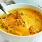 Carrot and Turkey Meatball Soup