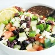 Greek Chopped Salad with Lemon Vinaigrette