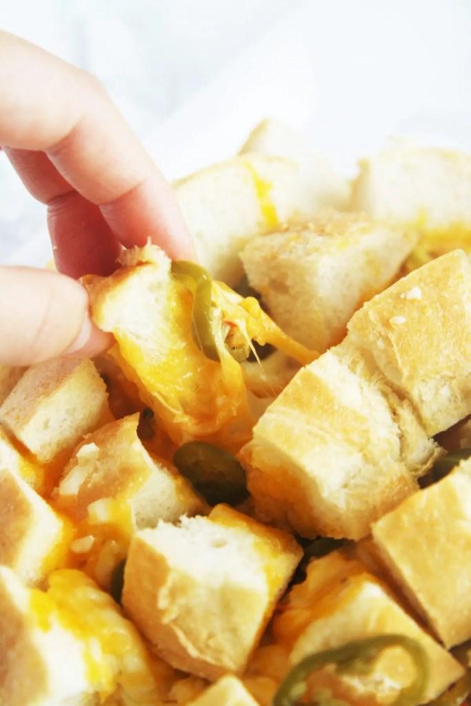Jalapeño Cheese Pull Apart Bread - The Tasty Bite