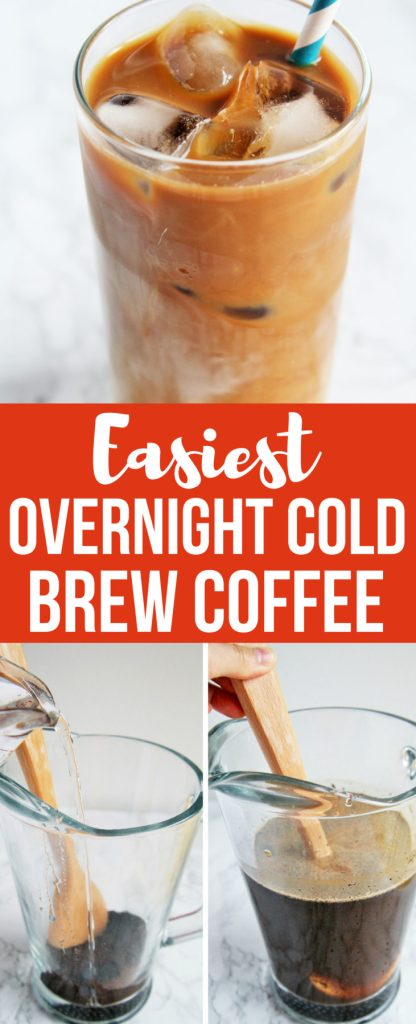 Learn how to make the best overnight cold brew coffee at home - easy, inexpensive, and no special equipment needed!