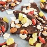 Tropical Dark Chocolate Bark