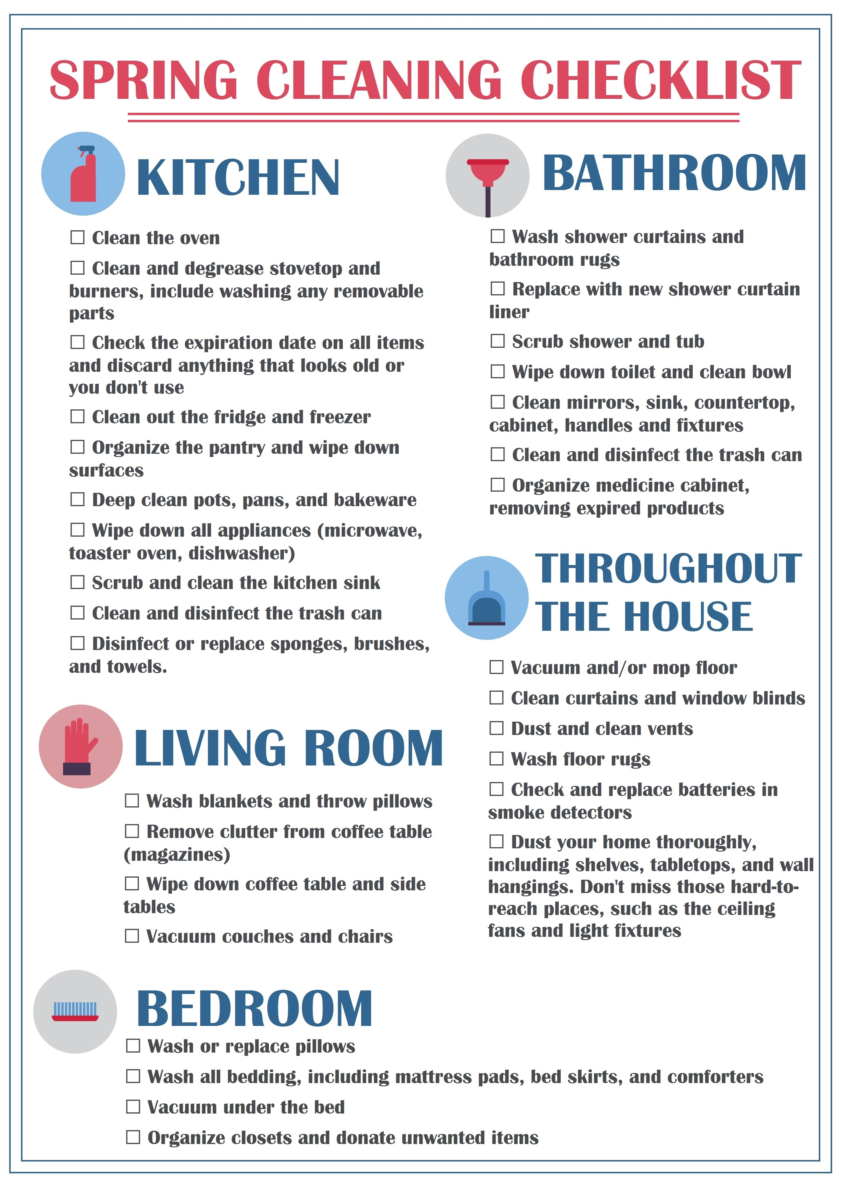 Spring Cleaning Doesnu0027t Have To Feel Overwhelming. Print This Checklist Out  And Put It Somewhere Where Youu0027ll See It And Be Reminded Of Your List And  You ...
