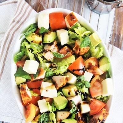 Turkey Avocado Caprese Salad