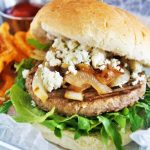 Caramelized Onions and Blue Cheese Turkey Burgers
