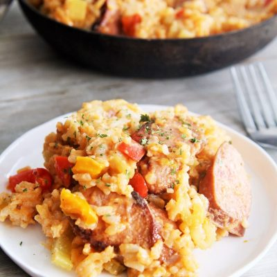 One-Skillet Cajun Shrimp and Sausage Jambalaya