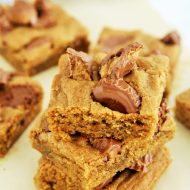 Chocolate Peanut Butter Cup Blondies