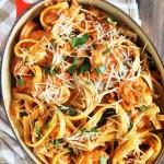 One-Pot Shrimp Parmesan Fettucine