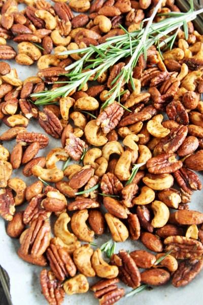 Rosemary Honey Roasted Nuts