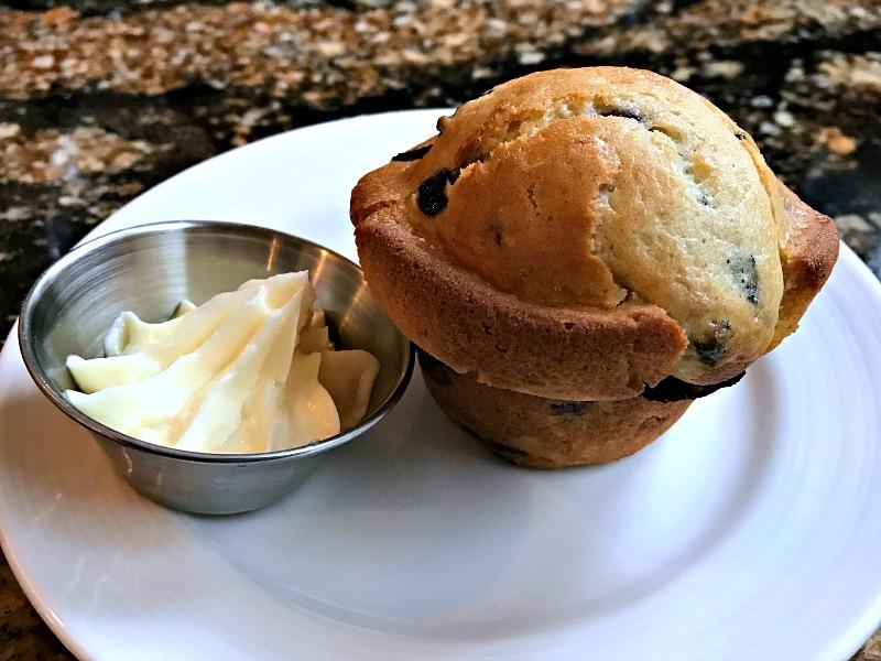 Bistro St. Michaels blueberry muffin