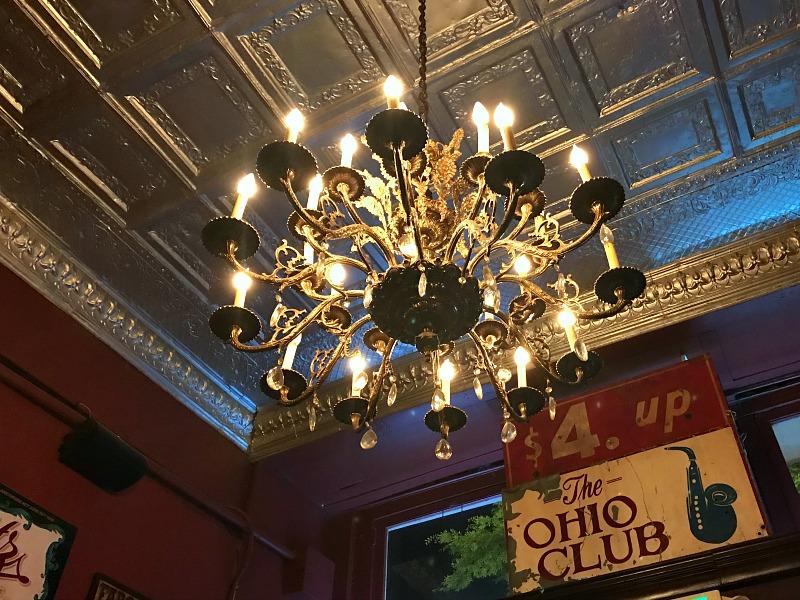 The Ohio Club ceiling
