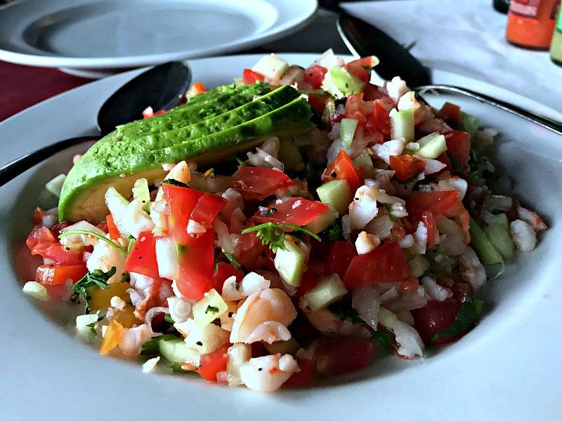 Langostinos shrimp ceviche