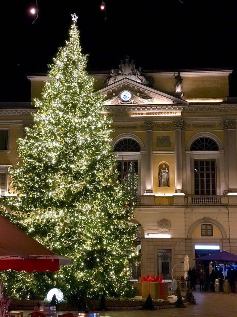 Christmas tree in Lugano Centro Storico