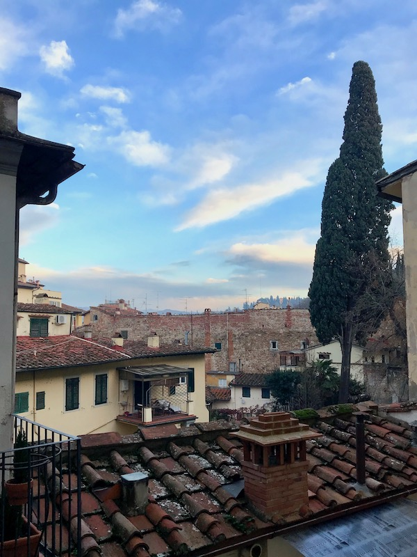 Florence view from our Airbnb