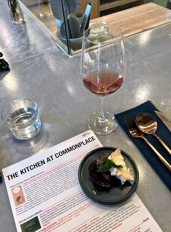 wine dinner at commonplace books