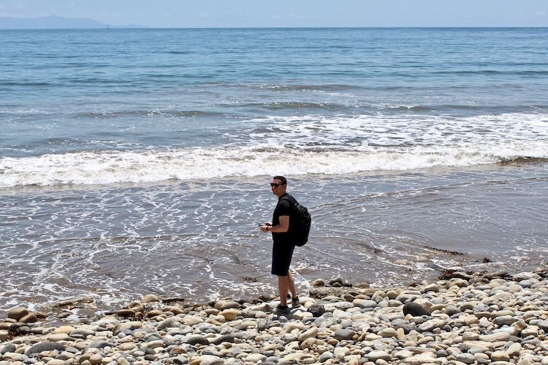 Tom at Abalone Cove