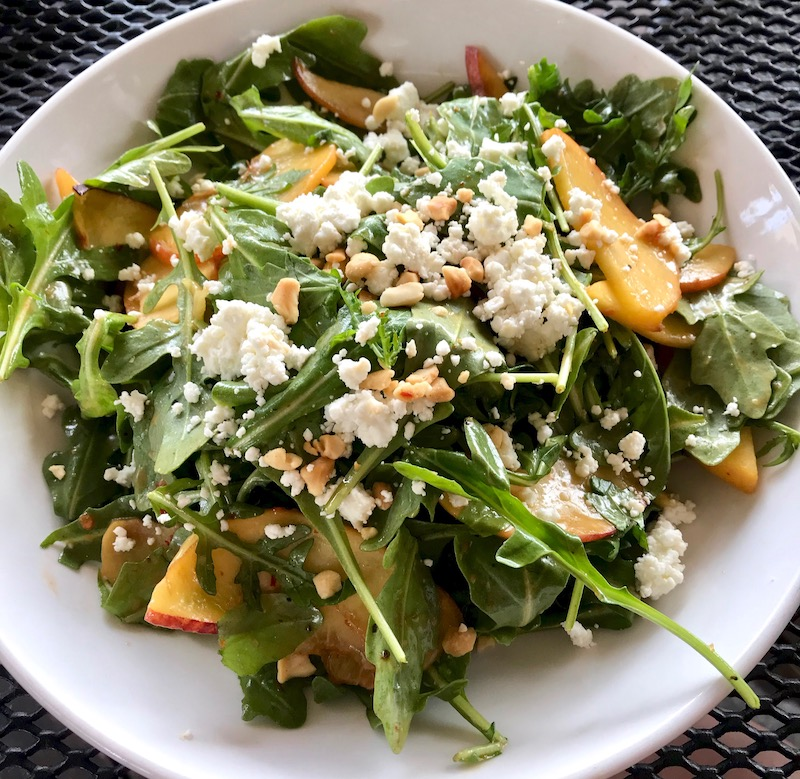 South of Beale peach and feta salad