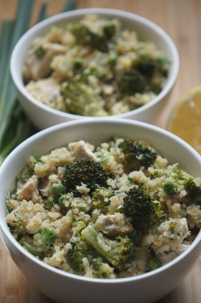 Warm Quinoa & Chicken Salad