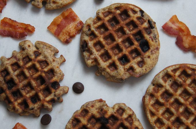 Paleo Bacon & Chocolate Chip Waffles