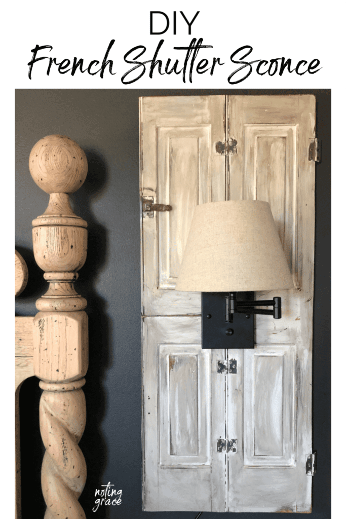Welcome Home Sunday: DIY French shutter sconce