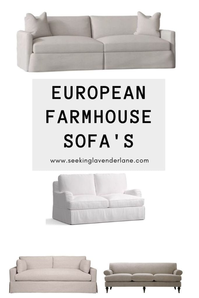 European Farmhouse Style Sofa's