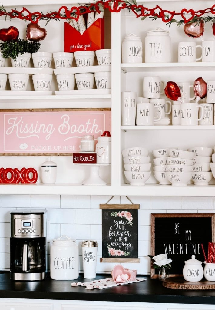 A fun Valentine coffee bar