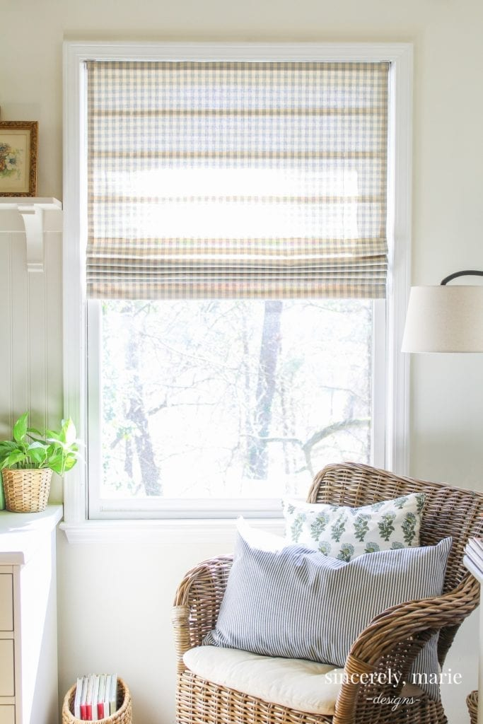 DIY Roman Shade- Welcome Home Sunday