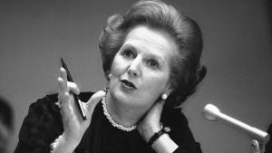 A picture of former British Prime Minister Margaret Thatcher