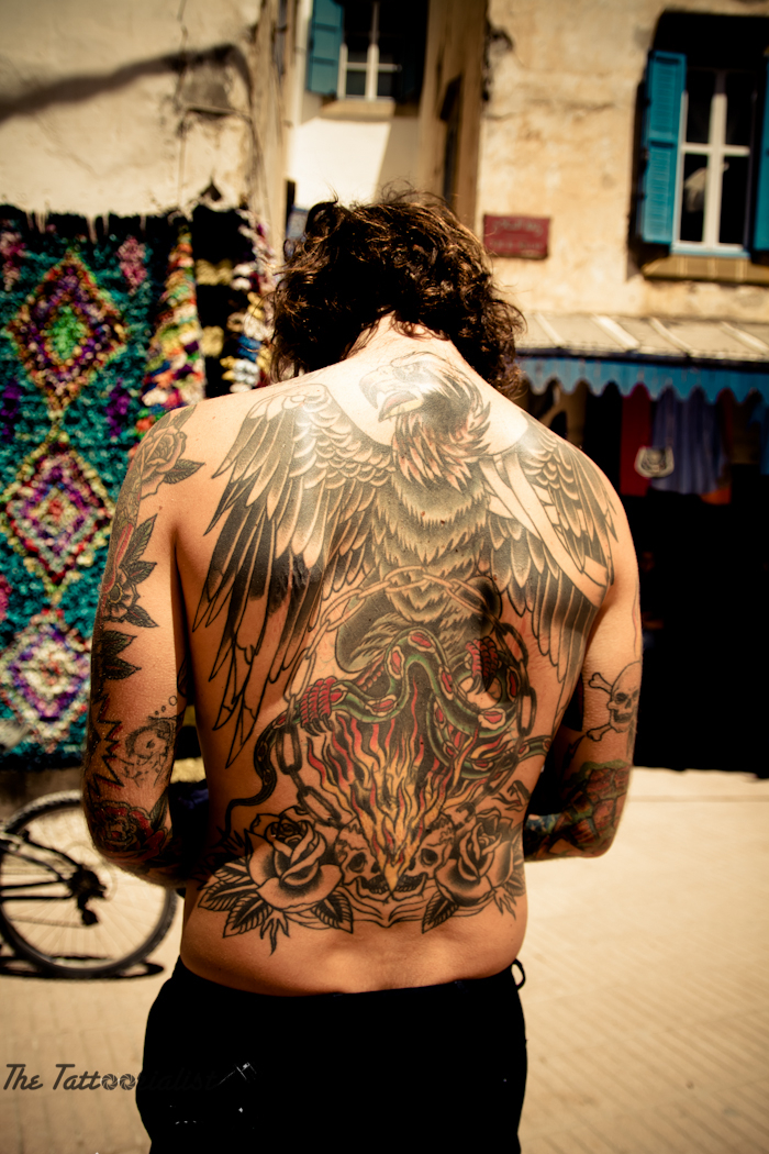 Inked boy in Essaouira-the-tattoorialist back with tattoo