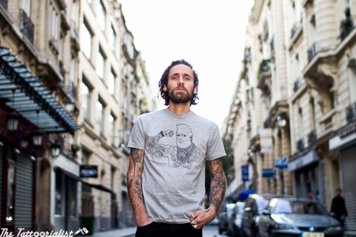 "Marcus , La Renarde ,entre chienne et louve ""secret tattoo"" tshirt tattoo ©thetattoorialist"