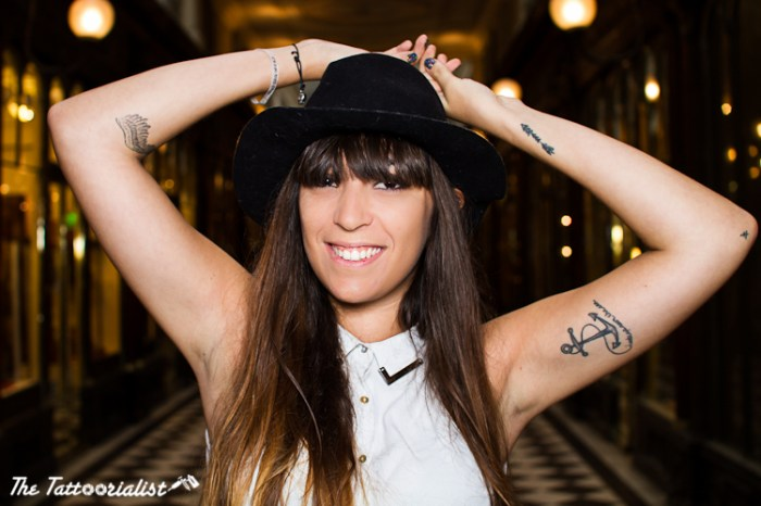 Marion aka Fringe and Frange fashion blogger girl with tattoos