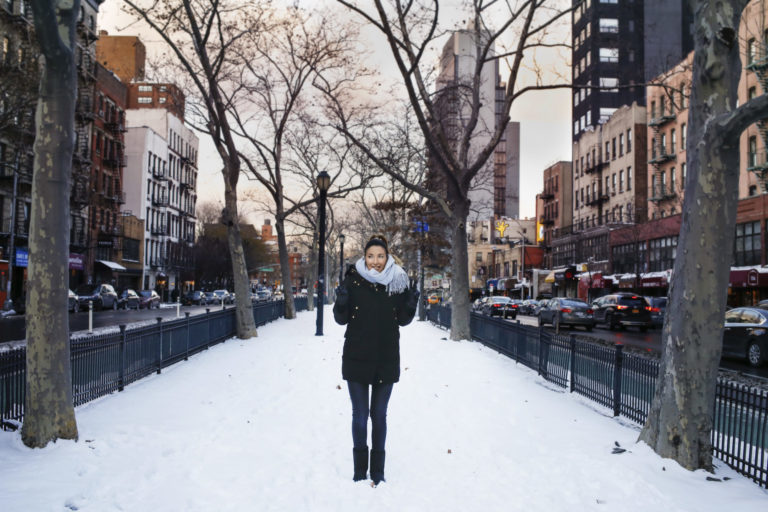 New York Winter Snow Days Houston Street Nolita