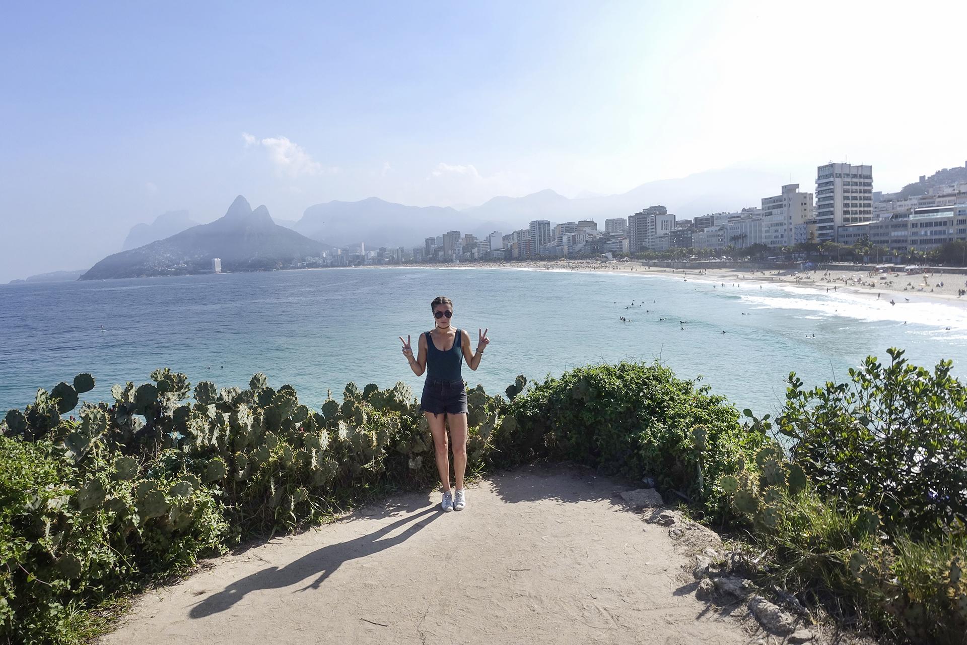 The Arpoador Rock Ipanema Beach