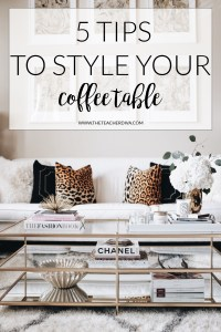 How To Style a Coffee Table | The Teacher Diva: a Dallas ...