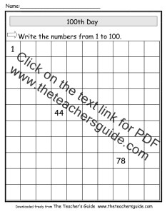 th day of school worksheet also the teacher   guide theme page rh theteachersguide