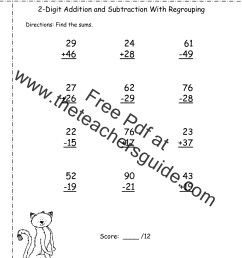 Free Math Printouts from The Teacher's Guide [ 1584 x 1224 Pixel ]