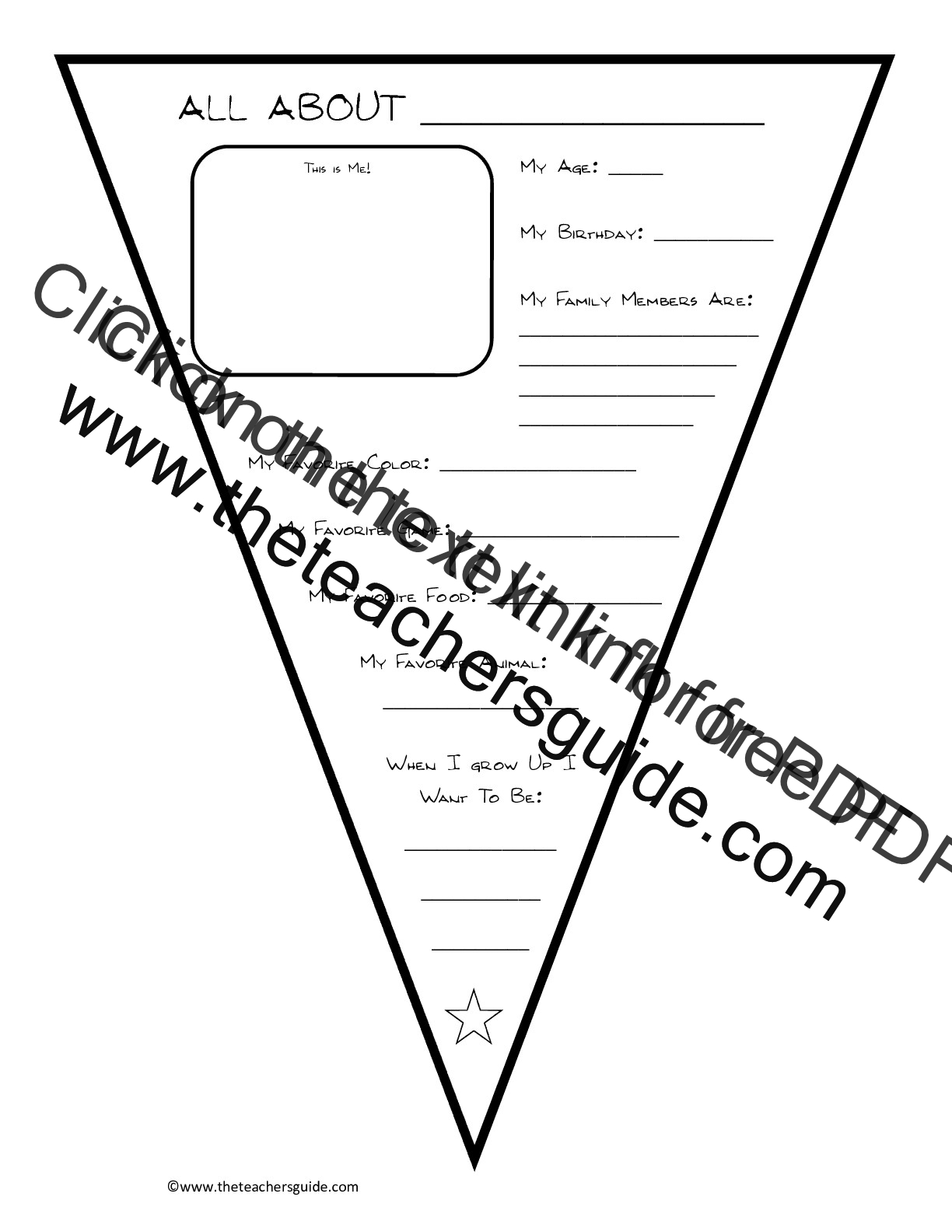 All About Me Template Printable