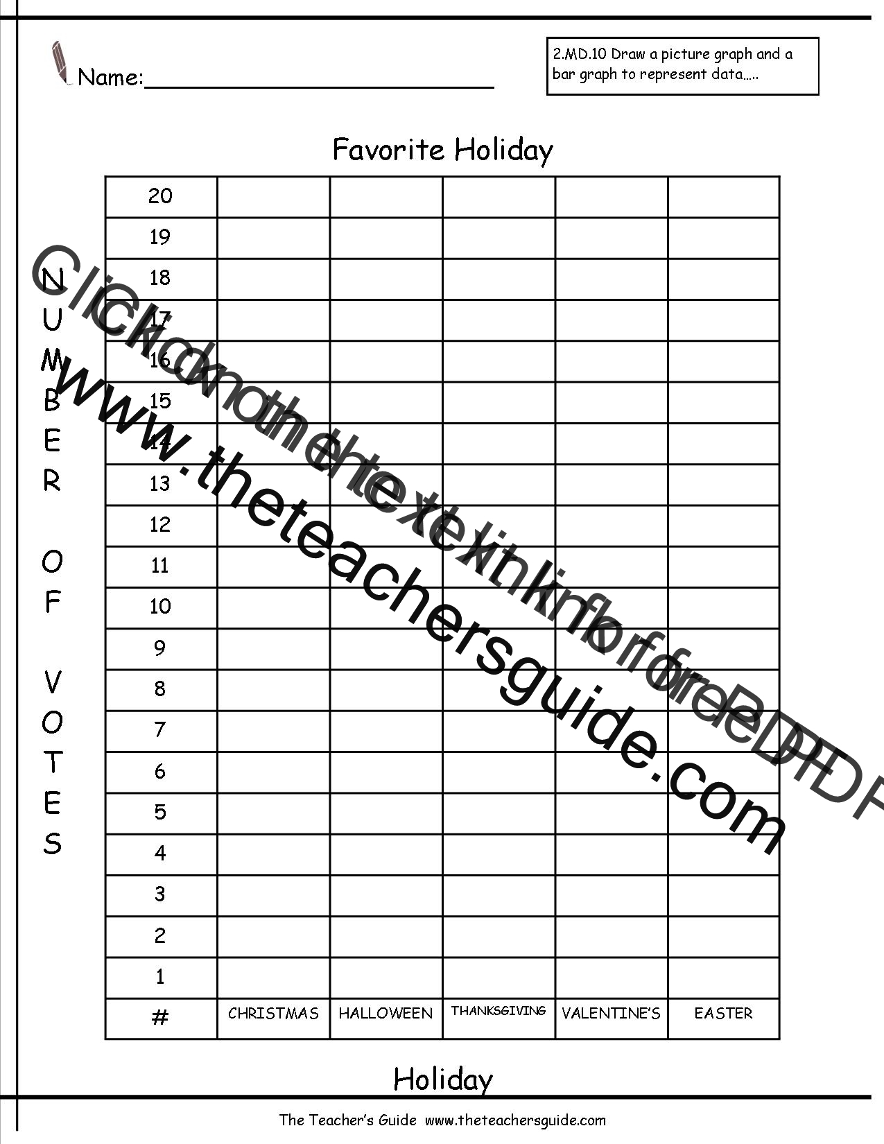 Reading And Creating Bar Graphs Worksheets From The