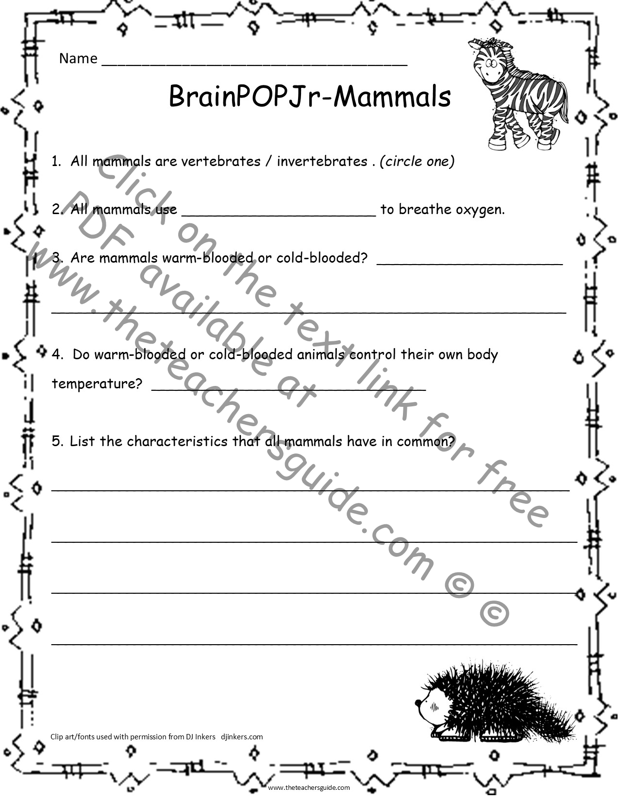 The Teacher S Guide Free Lesson Plans Printouts And