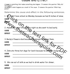 The Mitten Cause And Effect Worksheets   Printable Worksheets and  Activities for Teachers [ 1650 x 1275 Pixel ]