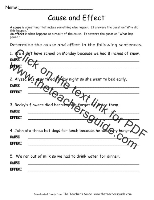 small resolution of The Mitten Cause And Effect Worksheets   Printable Worksheets and  Activities for Teachers