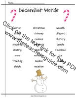 Christmas Printouts from The Teacher's Guide