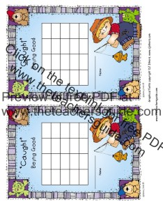 Caught being good behavior chart color also free printable reward and incentive charts rh theteachersguide