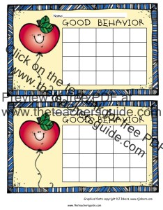 Apple behavior chart color also free printable reward and incentive charts rh theteachersguide